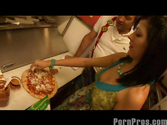 Smoking sexy and very taut eighteen year old Kenna Kane needs to earn a not many additional bucks to go to college. So that babe got a job at a pizza parlor and gets her tips blowing her manager's sausage! No Thing like pounding more than just dough in the kitchen...