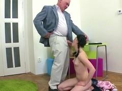 Beauty is offering her cunt for teacher's lusty joy