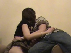 Amateur dark brown  at no time minds getting nailed by her partner