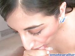 Sinless but nasty Arab legal age teenager sucks hard ramrod whilst scraping her bawdy cleft then gets her wet box fucked merely to finish by engulfing the cum from the wang and swallowing it.