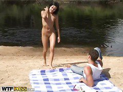 When a guy takes his hawt chick and a camera to the beach, u know what to expect. A hawt amateur outdoor sex film! Luckily, the dark brown sexdoll has no shame and willingly performs an extreme unfathomable mouth right on the beach, not giving a damn that somebody might watch it. Then things get way hotter as the horny pair starts fucking like insane, filming it all for this sexy shore porn. So sit back and have a fun their phat vid!