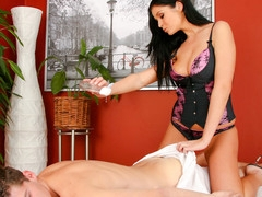 Sweet Christina Jolie Has Very Valuable Massages Techniques!